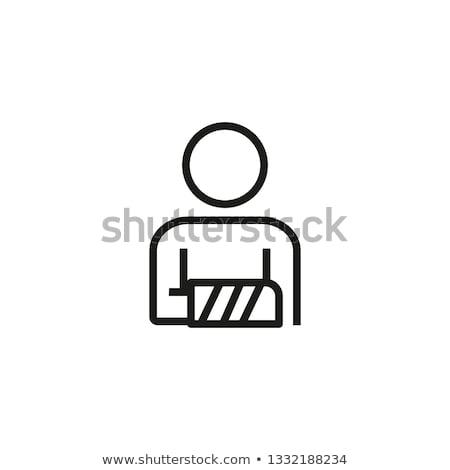 herida · línea · icono · vector · aislado · blanco - foto stock © rastudio