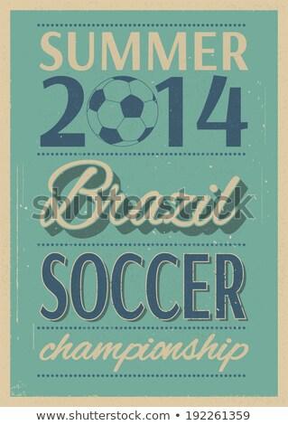 Сток-фото: Grunge Soccer Ball Background Eps 8