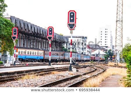 движения сигнала поезд иллюстрация фон искусства Сток-фото © bluering