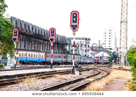Trafic signal train illustration fond art Photo stock © bluering