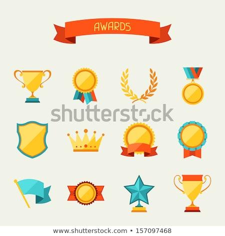 Győzelem ikon terv üzlet boldog csoportkép Stock fotó © WaD
