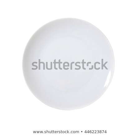 Witte coupe plaat ovaal schone moderne Stockfoto © Digifoodstock