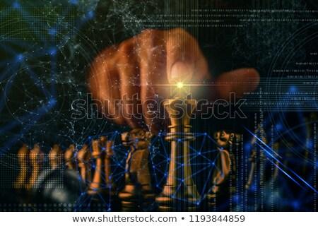 üzletemberek sakktábla üzleti stratégia iroda férfi megbeszélés Stock fotó © Kirill_M
