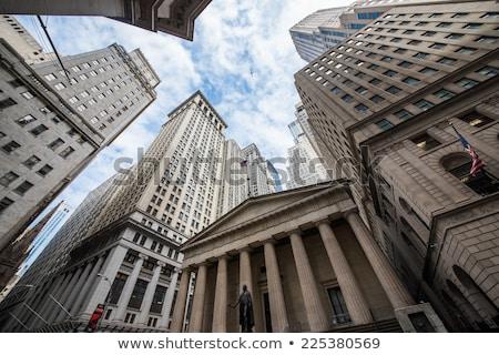 yeni · financial · district · ünlü · güneş · Manhattan - stok fotoğraf © unkreatives