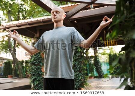 концентрированный молодые спортсмен йога медитации Сток-фото © deandrobot