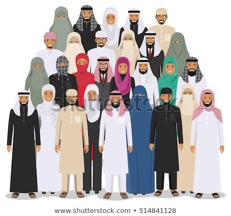 Arábia Árabe pessoas suporte conjunto Foto stock © NikoDzhi
