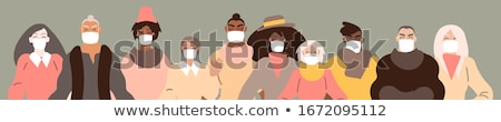 Spa woman with mask on face vector illustration concept Stock photo © NikoDzhi