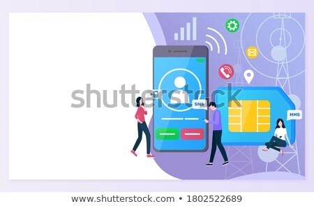 Téléphone utilisateur profile icône gris symbole Photo stock © ahasoft