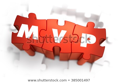 MVP - White Word on Red Puzzles. Stock photo © tashatuvango