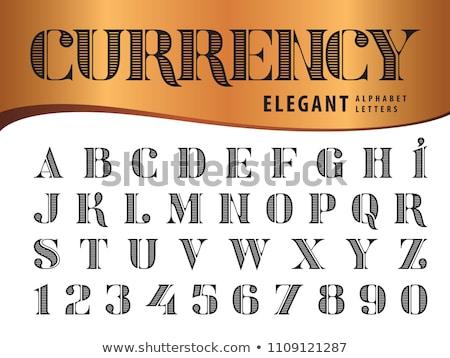 Antique Dollar Typeface Stock photo © devon