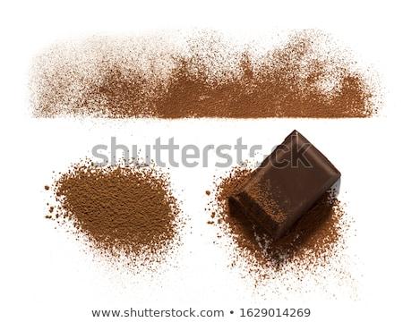 étcsokoládé bár fedett csokoládé por felső Stock fotó © deandrobot