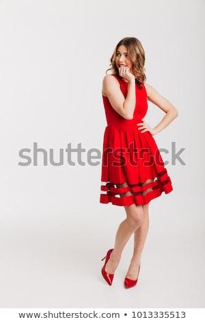 brunette gilr with red high heels Stock photo © kokimk