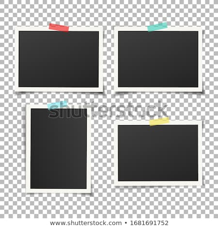 Photo Frame With Tape In Transparent Background Stock photo © cammep