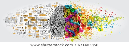 think positive concept with doodle design icons stock photo © tashatuvango