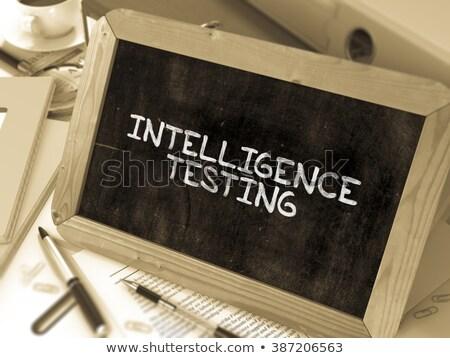 Hand Drawn Intelligence Testing on Office Chalkboard. Stock photo © tashatuvango