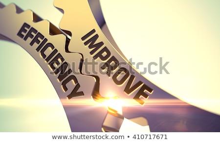 Hatékony stratégiák arany fémes sebességváltó ipari Stock fotó © tashatuvango