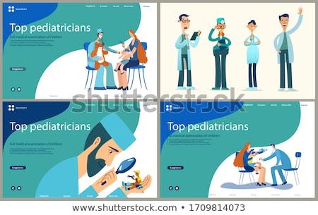 szett · orvosi · plakátok · egészségügy · vektor · gyógyszer - stock fotó © Leo_Edition