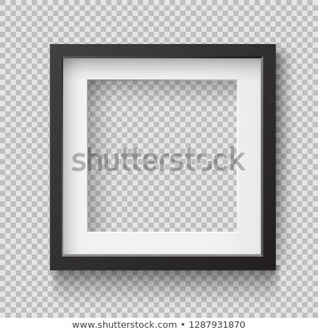Сток-фото: квадратный · кадр · прозрачный · бумаги · белый · искусства