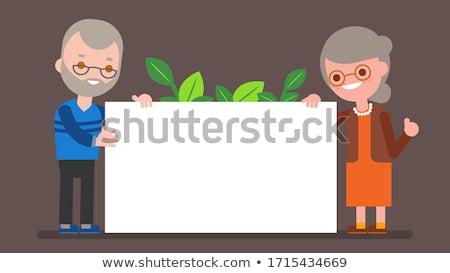 engraçado · cartão · texto · tamanho · bebê - foto stock © popaukropa