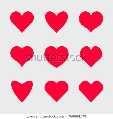 Ayarlamak renk kalp şekli simge sevmek yalıtılmış Stok fotoğraf © orensila