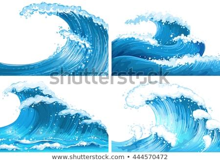 Tropikal tsunami karikatür rahatlatıcı tatil hedef Stok fotoğraf © blamb