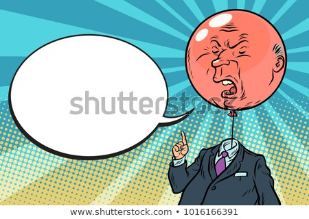 Stok fotoğraf: Angry Bloated Red Boss Bubble