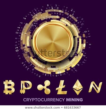 érme szimbólum internet pénz digitális valuta Stock fotó © tashatuvango