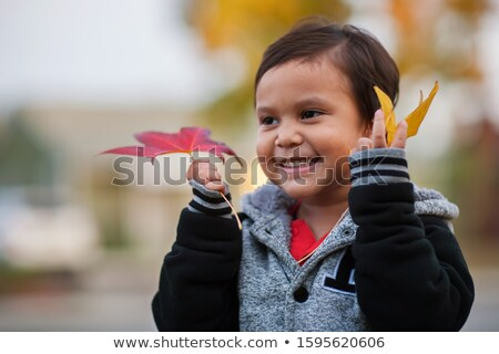 Children holding hands outside shed Stock photo © IS2