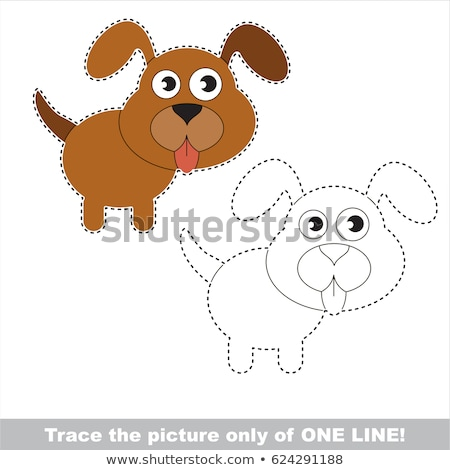 Draw a picture only of one line dog Stock photo © Olena