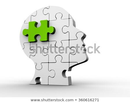 3d emberi puzzle zöld Stock fotó © CoraMax