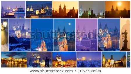 Prága város egy száz összetett Csehország Stock fotó © courtyardpix