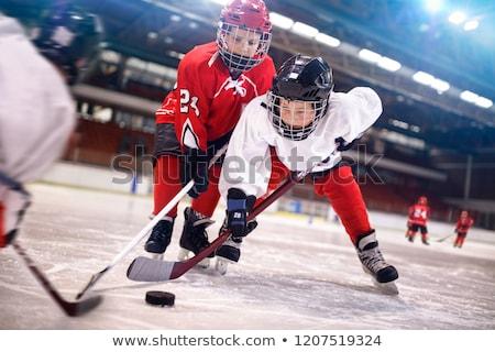 gyermek · jégkorong · gyerekek · vár · idő · játék - stock fotó © is2