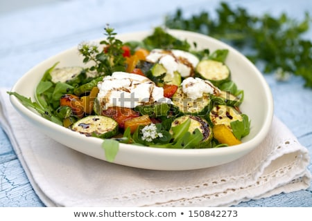 vegetable salad with goat cheese Stock photo © M-studio