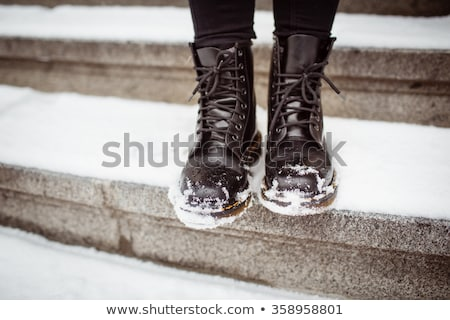 two women walking in snow shoes stock photo © is2
