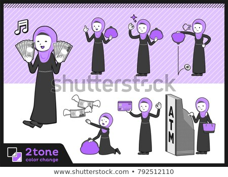 Stock photo: 2tone type Arab women_set 11