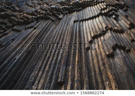 Bazalt kamienie kolumny piękna drzewo charakter Zdjęcia stock © romvo