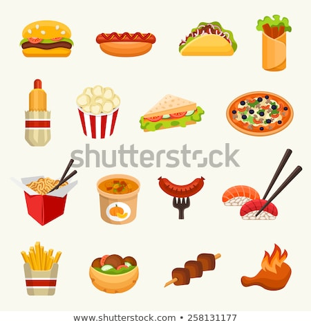 A Set of American Food Stock photo © bluering