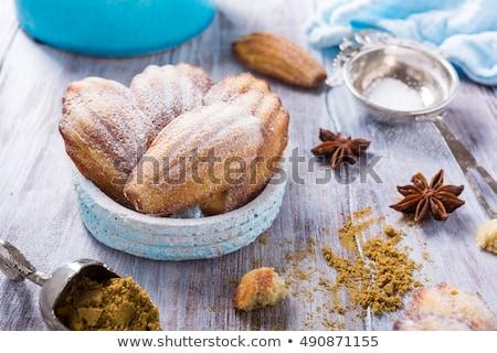 făcut · în · casă · anason · cookie-uri · vechi · alb · concediu - imagine de stoc © Melnyk