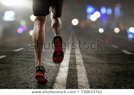 Homme formation marathon nuit illustration sport Photo stock © bluering