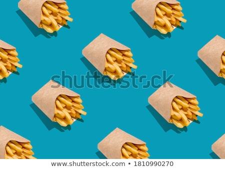 жареный картофельные чипсы продовольствие жира приготовления Сток-фото © olgaaltunina