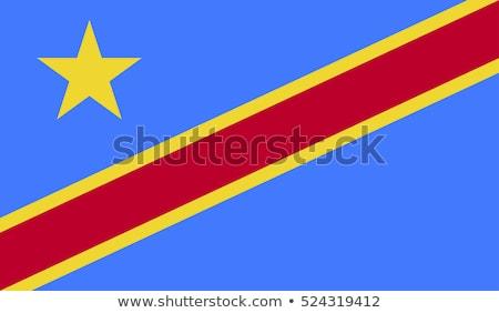Kongo bayrak beyaz boya sanat imzalamak Stok fotoğraf © butenkow
