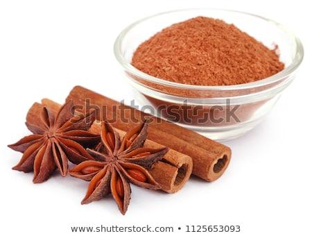 Aromás fahéj csillag ánizs föld fűszer Stock fotó © bdspn