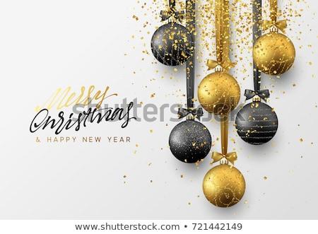 Elegante natal ouro vetor noite mão Foto stock © fresh_5265954