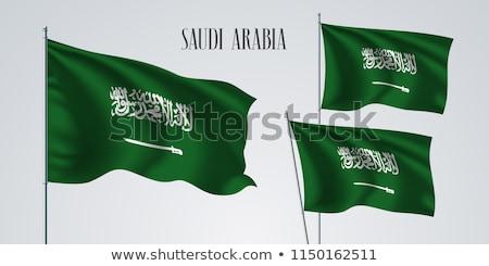 Isolated Saudi Arabia Flag waving 3d Realistic Saudi Arabian Flag Rendered Stock photo © SaqibStudio