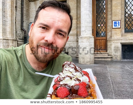 Traditional Belgian waffles stock photo © YuliyaGontar
