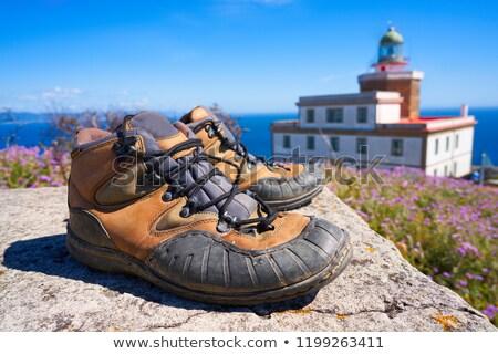 Gebruikt schoenen einde manier laarzen Stockfoto © lunamarina