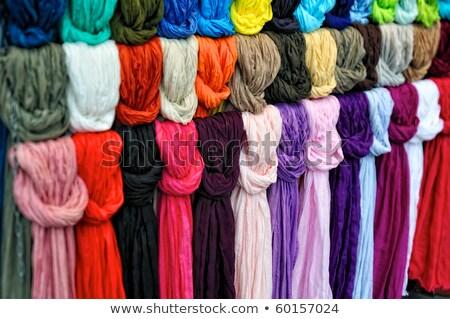 boglya · színes · sapkák · román · piac · divat - stock fotó © lunamarina