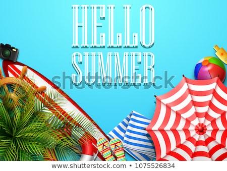 palms · praia · flores · água · natureza · mar - foto stock © robuart