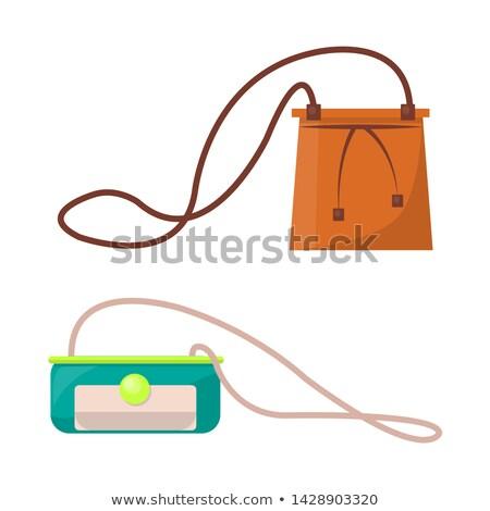 Klein vrouwelijke leder portemonnee gemakkelijk Rood Stockfoto © robuart