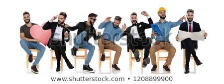 Toevallig persoon verschillend sollicitatiegesprek wachten grappig Stockfoto © feedough